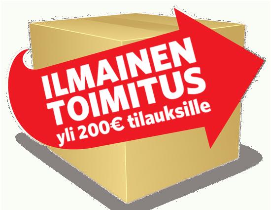 Ilmainen toimitus yli 200 euron tilauksiin.